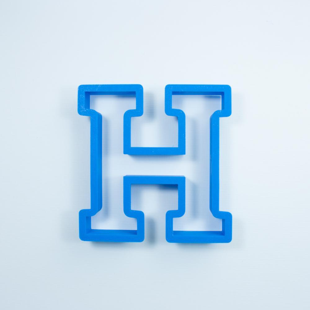 Frosted Cookie Cutter Block Letter H Cookie Cutter