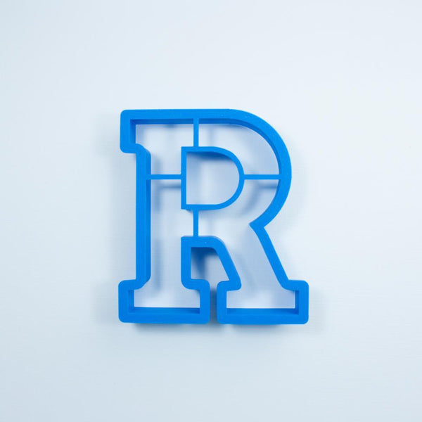 Frosted Cookie Cutter Block Letter R Cookie Cutter