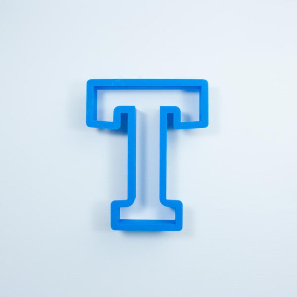 Frosted Cookie Cutter Block Letter T Cookie Cutter