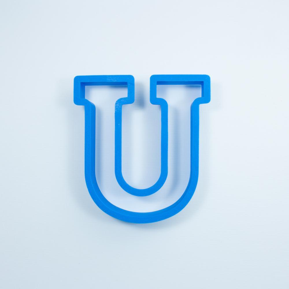 Frosted Cookie Cutter Block Letter U Cookie Cutter