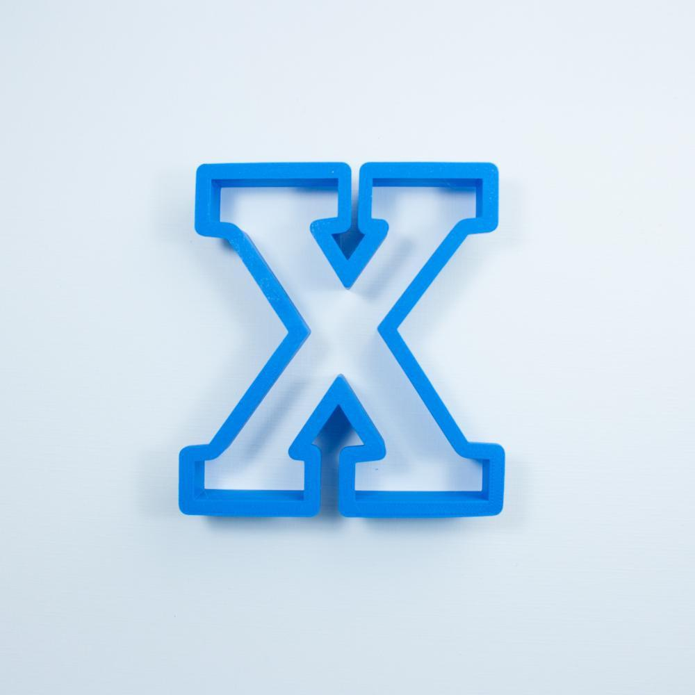 Frosted Cookie Cutter Block Letter X Cookie Cutter