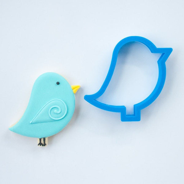 Frosted Cookie Cutter Blue Bird Cookie Cutter