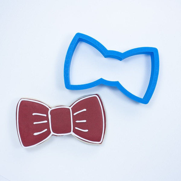 Frosted Cookie Cutter Bow Tie Cookie Cutter