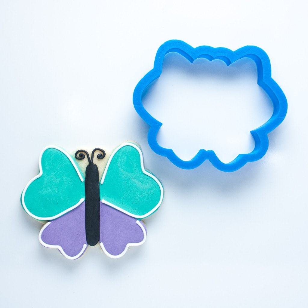 Frosted Cookie Cutter Butterfly Cookie Cutter