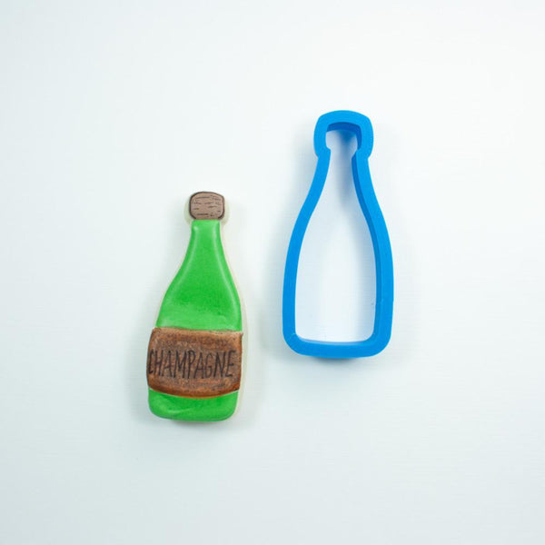 Frosted Cookie Cutter Champagne Bottle Cookie Cutter