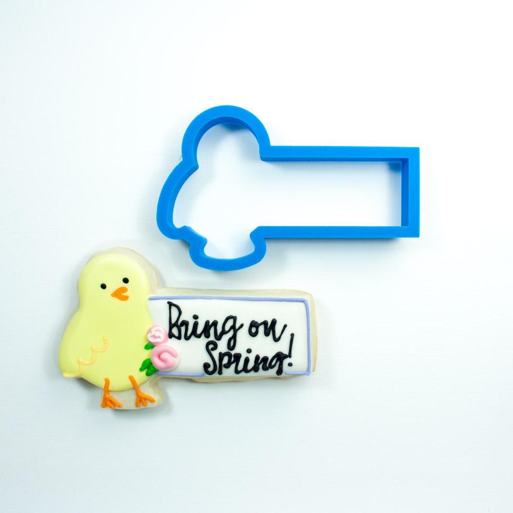 Frosted Cookie Cutter Chick Cookie Stick Cookie Cutter