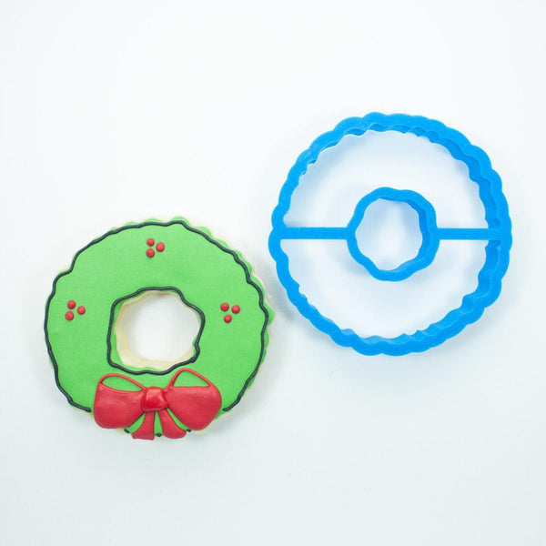 Frosted Cookie Cutter Christmas Wreath Cookie Cutter