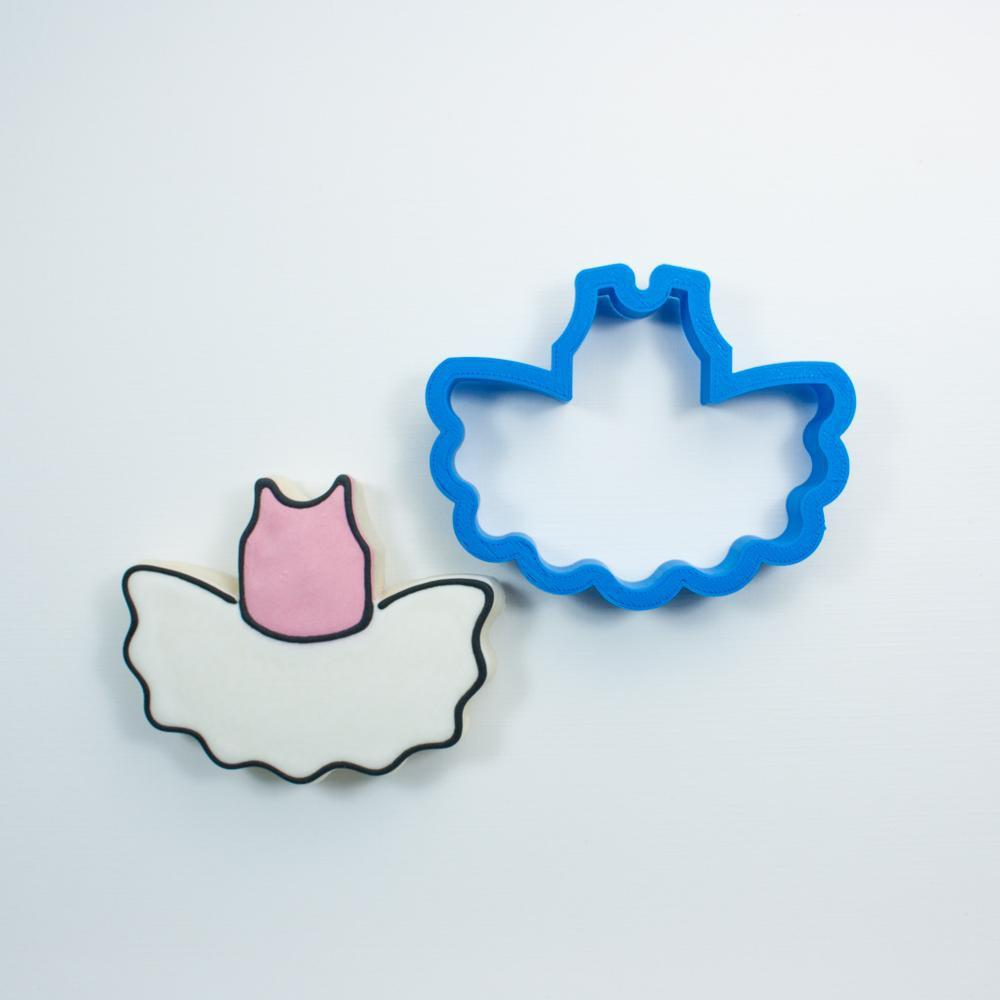 Frosted Cookie Cutter Chubby Ballerina Tutu Cookie Cutter