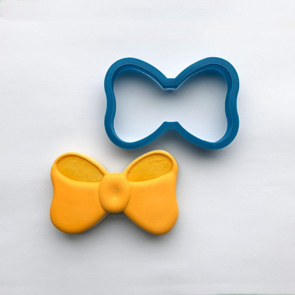 Frosted Cookie Cutter Chubby Bow Tie Cookie Cutter