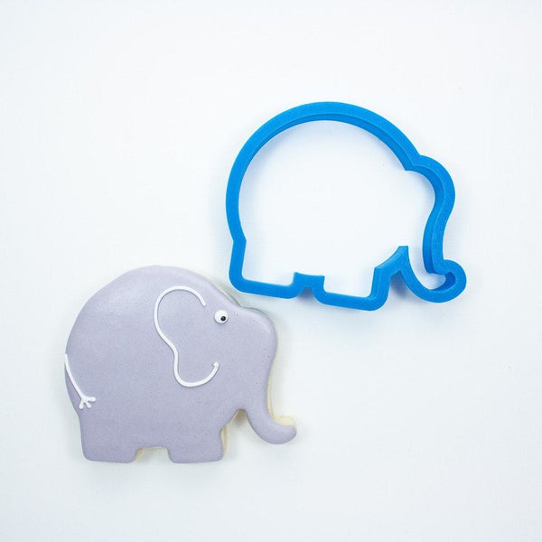 Frosted Cookie Cutter Chubby Elephant Cookie Cutter