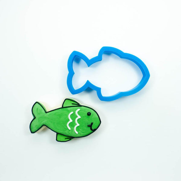 Frosted Cookie Cutter Chubby Fish Cookie Cutter