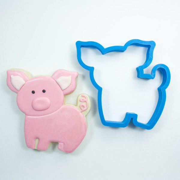 Frosted Cookie Cutter Chubby Pig Cookie Cutter