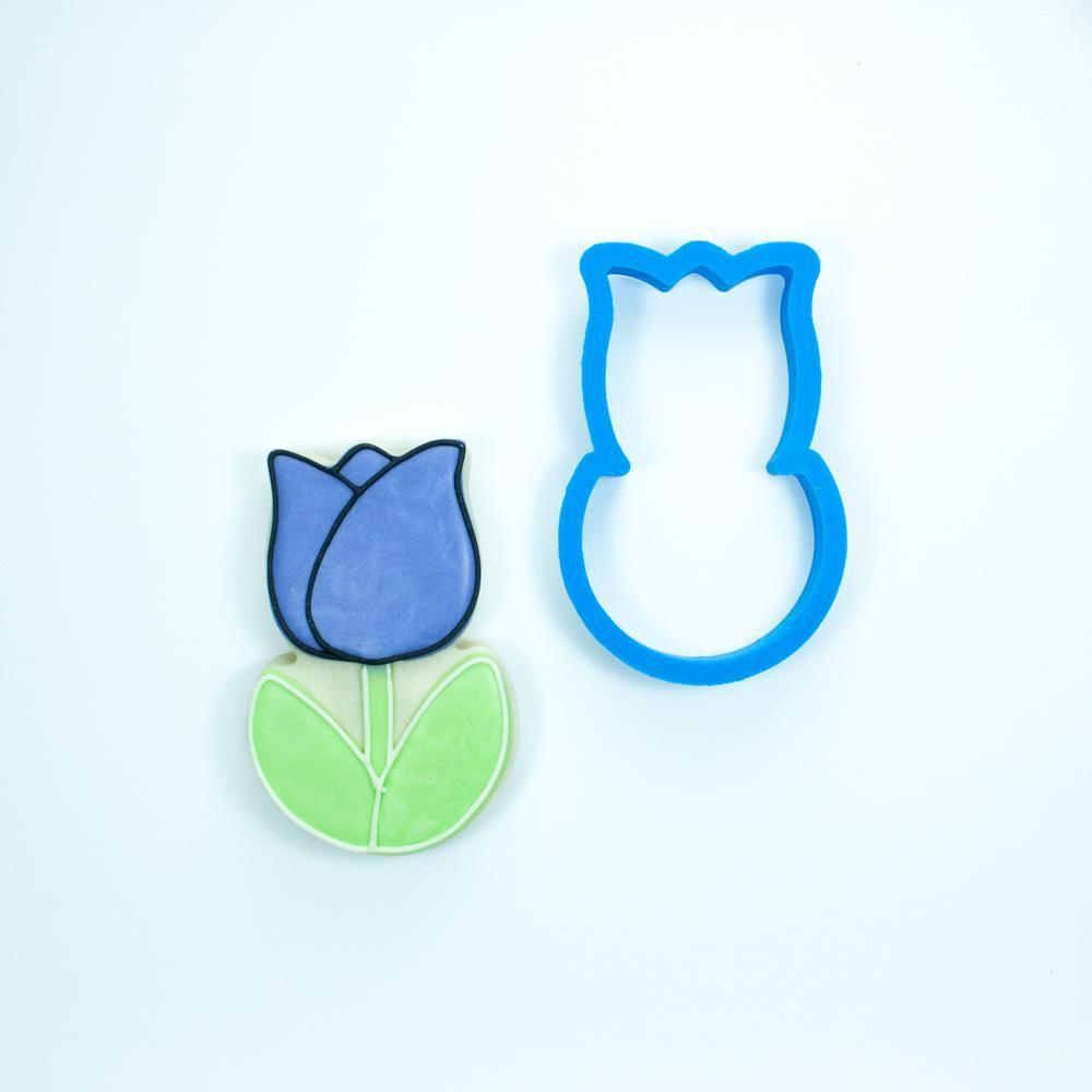 Frosted Cookie Cutter Chubby Tulip Cookie Cutter