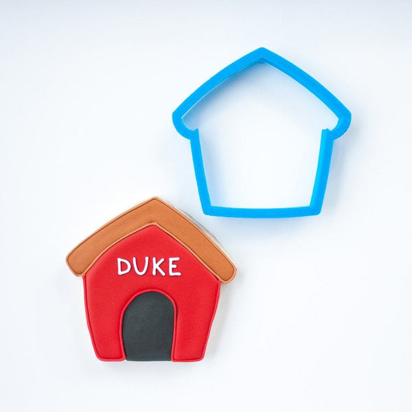 Frosted Cookie Cutter Dog House Cookie Cutter