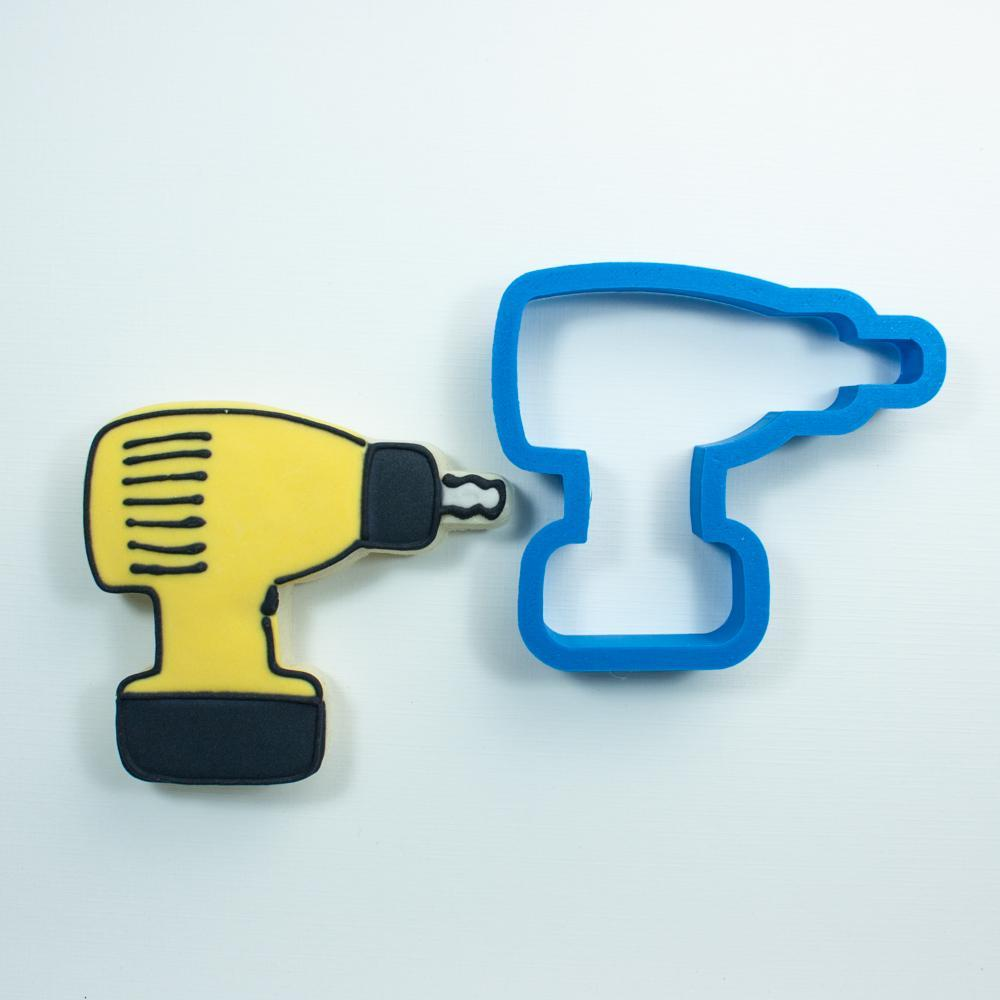 Frosted Cookie Cutter Drill Cookie Cutter