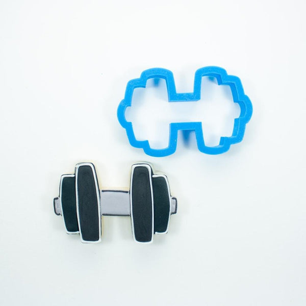 Frosted Cookie Cutter Dumbbell Cookie Cutter