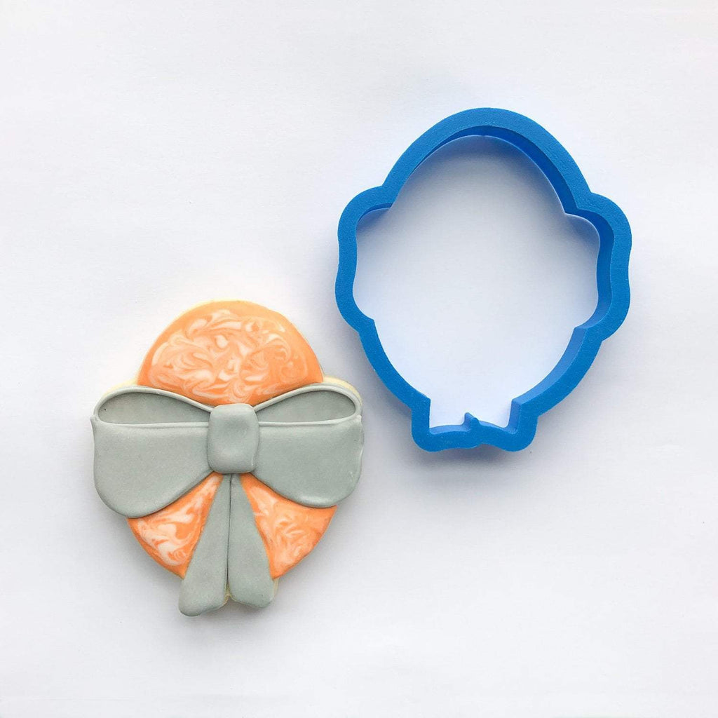 Frosted Cookie Cutter Easter Egg with Bow Cookie Cutter