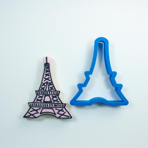 Frosted Cookie Cutter Eiffel Tower Cookie Cutter