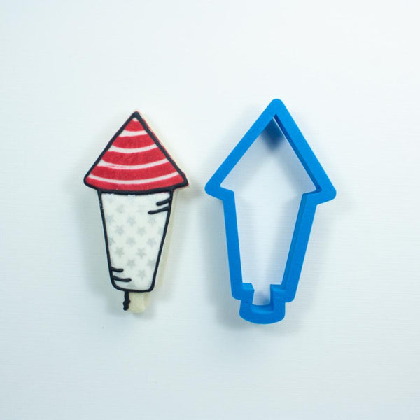Frosted Cookie Cutter Firework Rocket Cookie Cutter