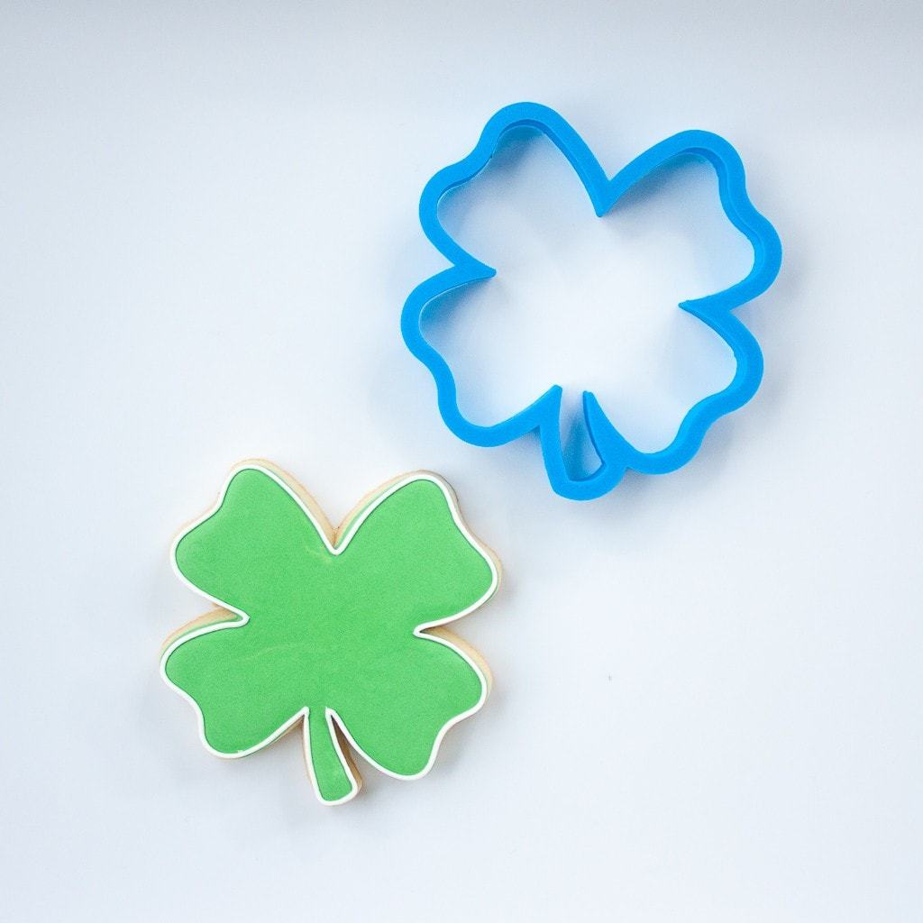 Frosted Cookie Cutter Four Leaf Clover Cookie Cutter