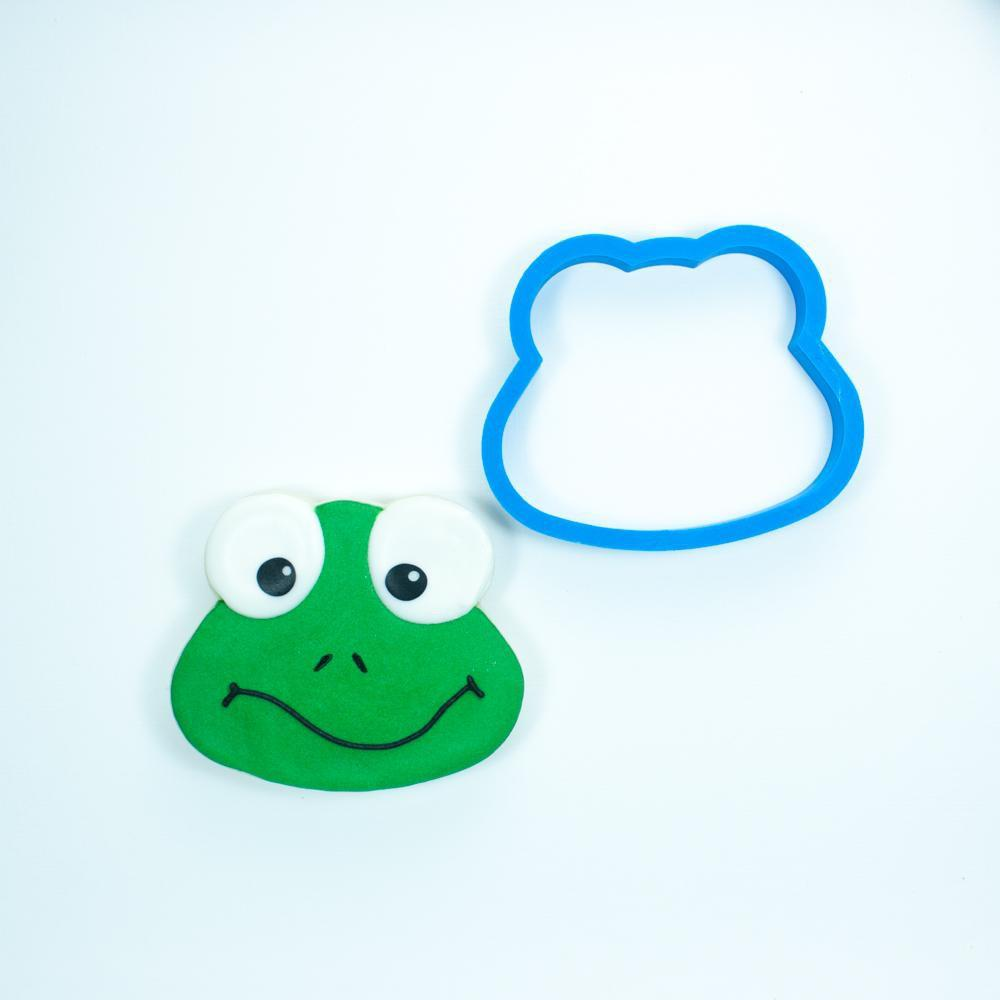 Frosted Cookie Cutter Frog Head Cookie Cutter