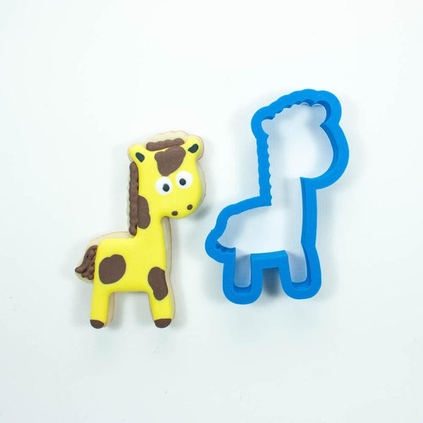 Frosted Cookie Cutter Giraffe Cookie Cutter