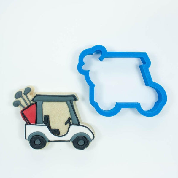 Frosted Cookie Cutter Golf Cookie Cutter Set - Golf Cart, Golf Clubs, and Golf Ball