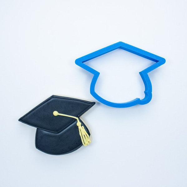 Frosted Cookie Cutter Graduation Set - Graduation Cap, Graduation Diploma and Ribbon Plaque Cookie Cutters