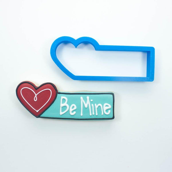 Frosted Cookie Cutter Heart Cookie Stick Cookie Cutter