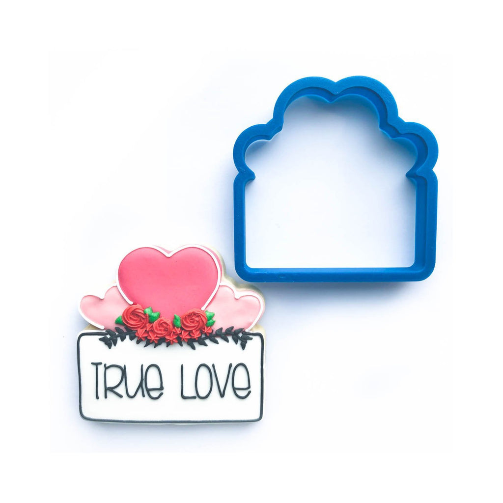Frosted Cookie Cutter Heart Trio Plaque Cookie Cutter