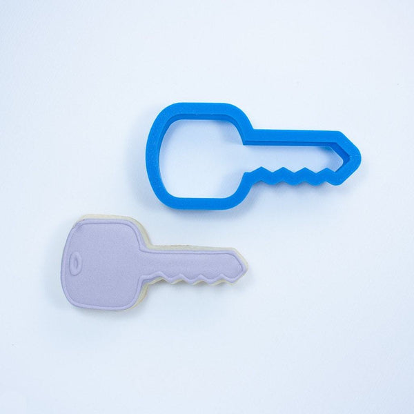 Frosted Cookie Cutter House Key Cookie Cutter
