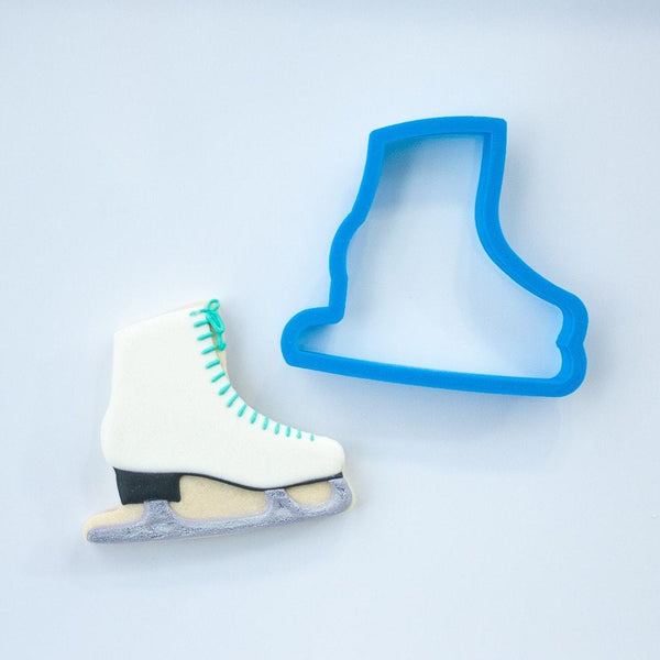 Frosted Cookie Cutter Ice Skate Cookie Cutter