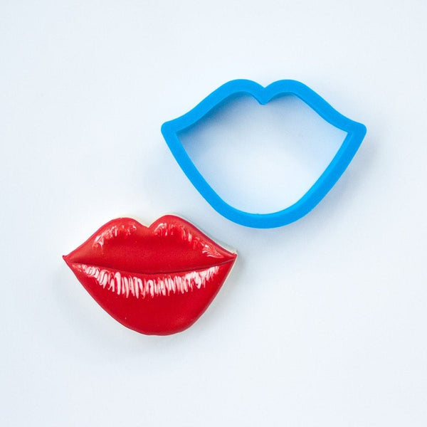 Frosted Cookie Cutter Lips Cookie Cutter