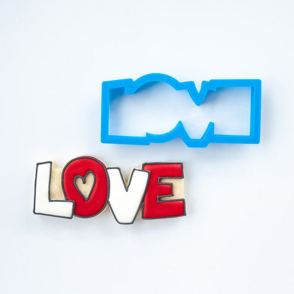 Frosted Cookie Cutter Love Cookie Cutter