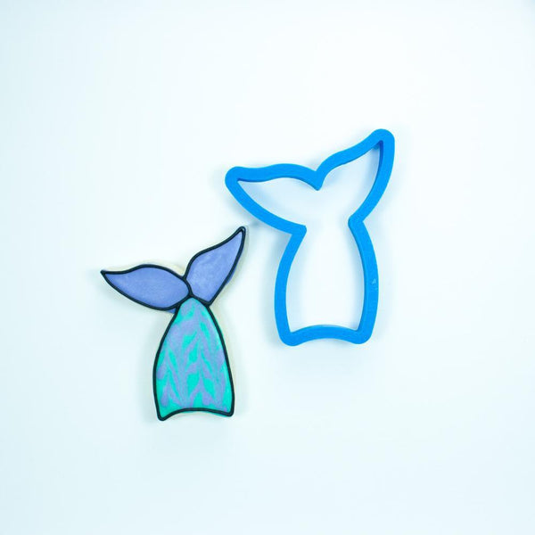 Frosted Cookie Cutter Mermaid Tail Cookie Cutter