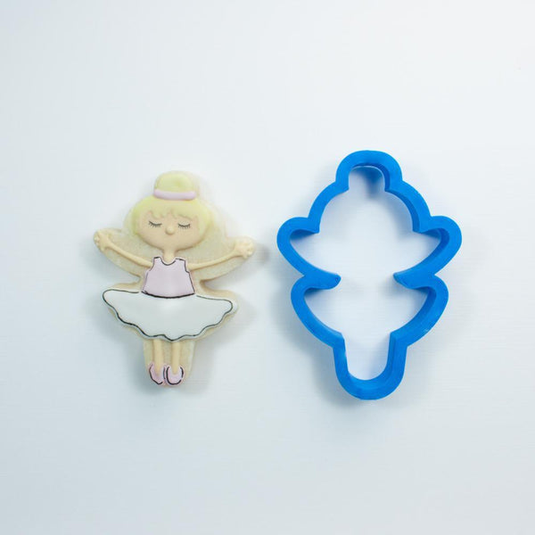 Frosted Cookie Cutter Modern Ballerina Cookie Cutter