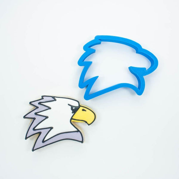 Frosted Cookie Cutter Modern Eagle Cookie Cutter