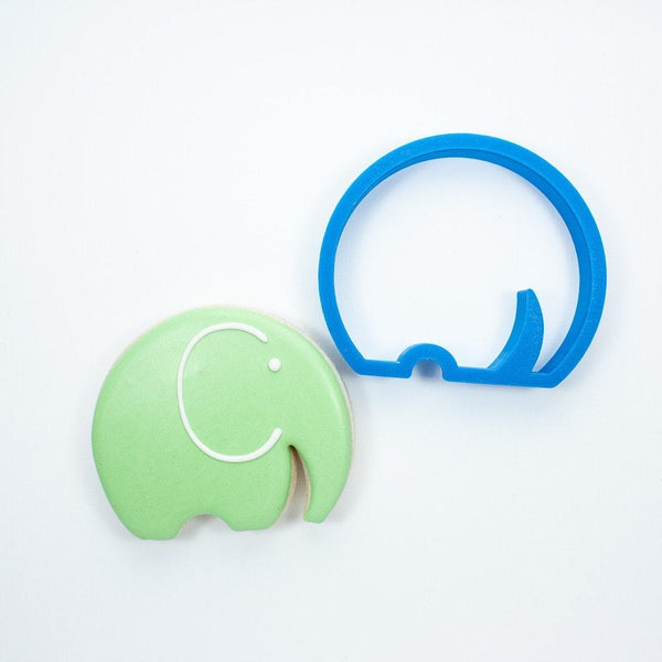 Frosted Cookie Cutter Modern Elephant Cookie Cutter