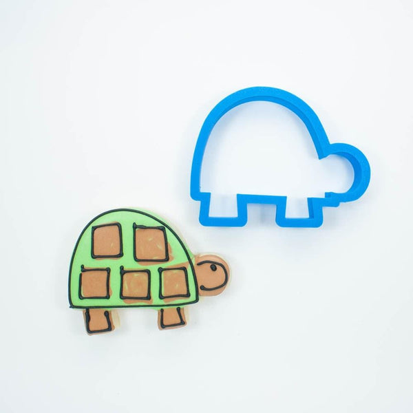 Frosted Cookie Cutter Modern Turtle Cookie Cutter