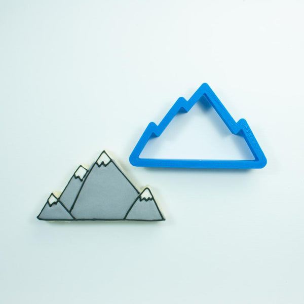 Frosted Cookie Cutter Mountain Range Cookie Cutter