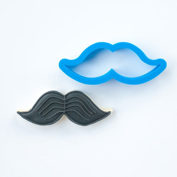 Frosted Cookie Cutter Mustache Cookie Cutter