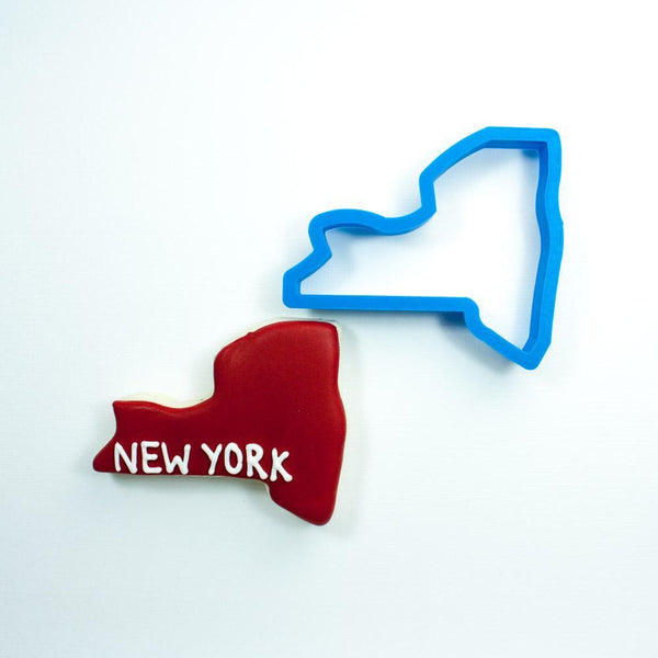 Frosted Cookie Cutter New York Cookie Cutter