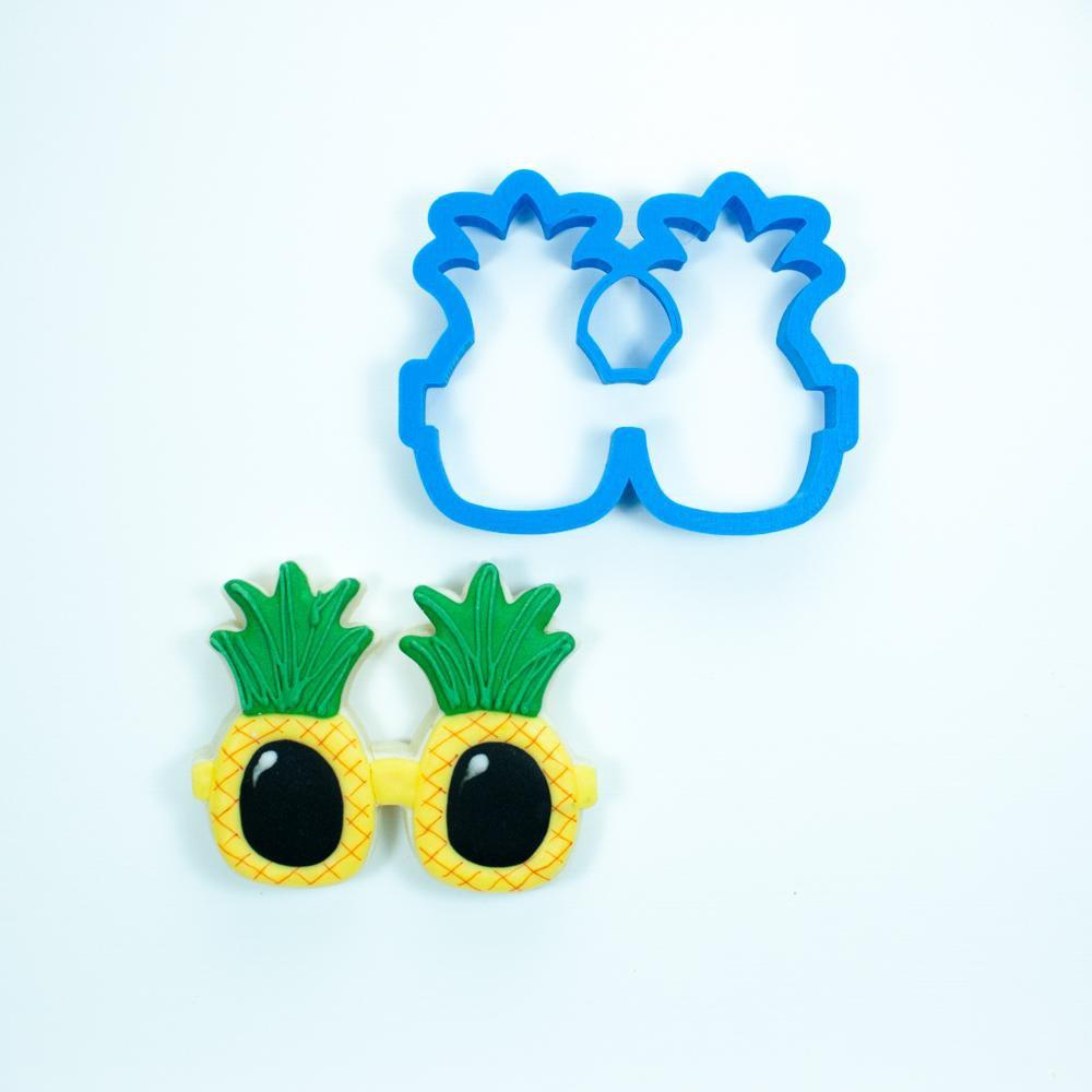 Frosted Cookie Cutter Pineapple Sunglasses Cookie Cutter