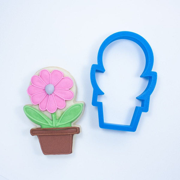 Frosted Cookie Cutter Potted Plant Cookie Cutter