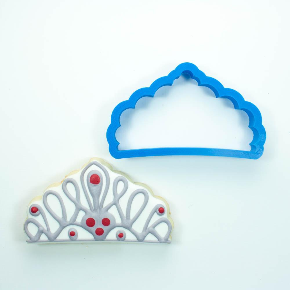 Frosted Cookie Cutter Princess Tiara Cookie Cutter