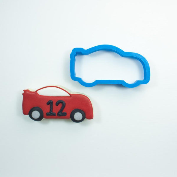 Frosted Cookie Cutter Race Car Cookie Cutter