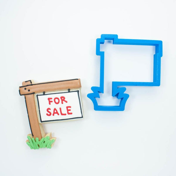 Frosted Cookie Cutter Real Estate Sign Cookie Cutter