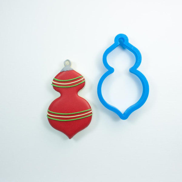 Frosted Cookie Cutter Retro Christmas Ornament Cookie Cutter