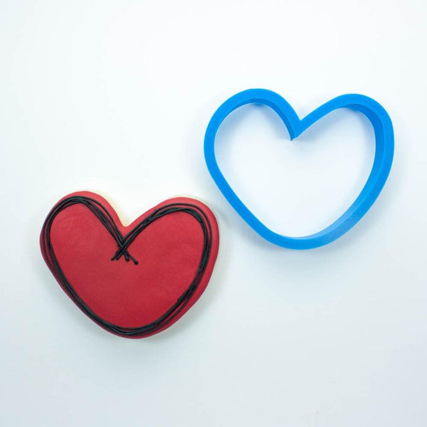 Frosted Cookie Cutter Rounded Heart Cookie Cutter