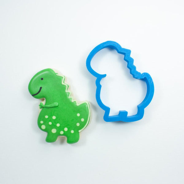 Frosted Cookie Cutter T-Rex Cookie Cutter